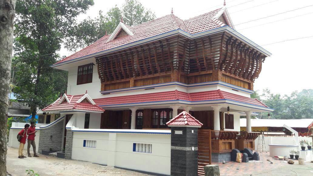 1724 Square Feet 3 Bedroom Double Floor Traditional Style Home Design and Plan