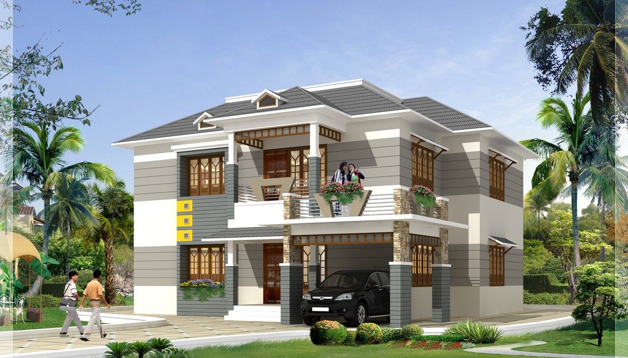 2700 Square Feet 4 Bedroom Beautiful Modern Home Design