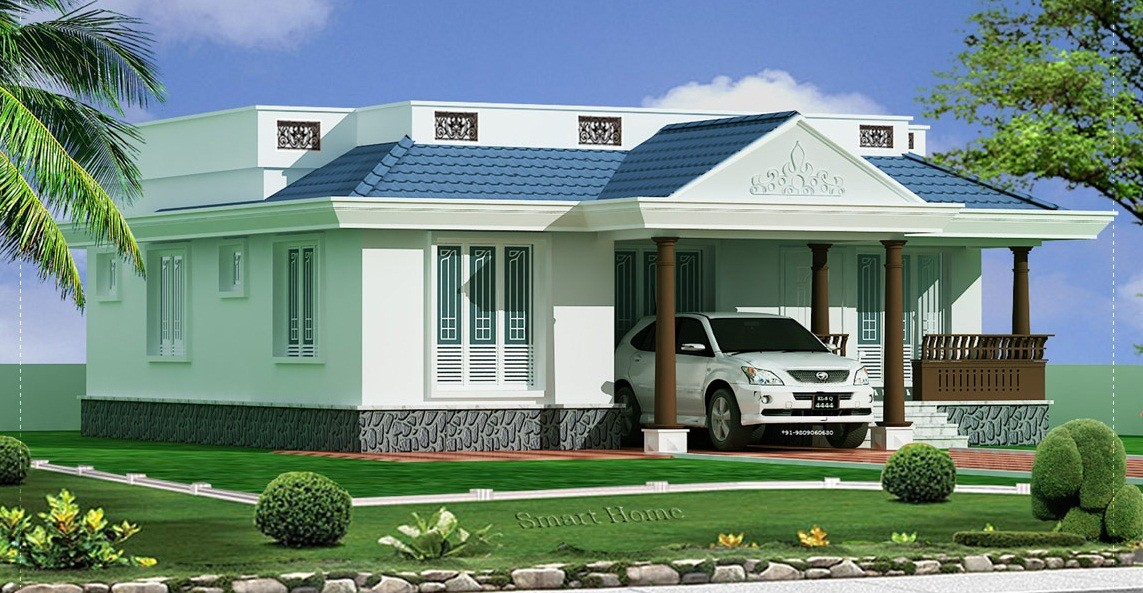 1155 Square Feet 3 Bedroom Single Floor Low Budget Home Design and Plan