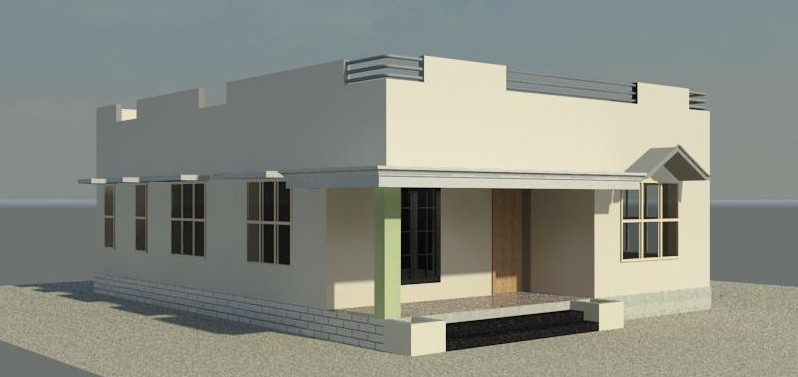 550 Square Feet 2 Bedroom Low Budget Home Design and Plan