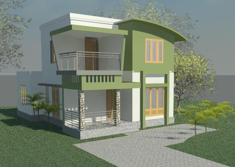 1600 square feet 3 bedroom low budget double floor home for 1600 square feet house