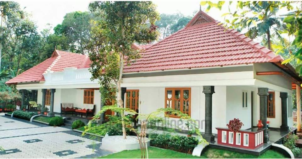 1500 square feet 3 bedroom single floor kerala traditional for Kerala style single storey house plans