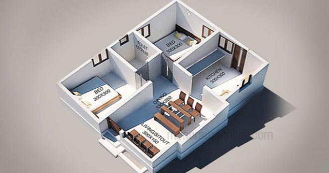 Wonderful 839 Square Feet 2 Bedroom Single Floor Kerala Traditional Style Home Design  And Plan