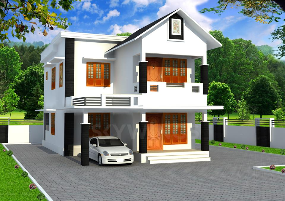 1700 Square Feet 3 Bedroom Double Floor Contemporary Home Design and Plan