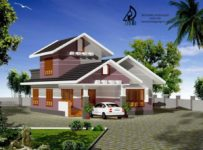 1430 Square Feet 2 Bedroom Double Floor Home Design For 19.5 Lacks