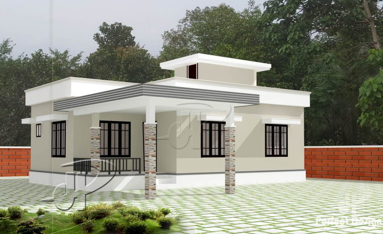 903 square feet 2 bedroom low cost home design and plan for Lowest cost per square foot build house