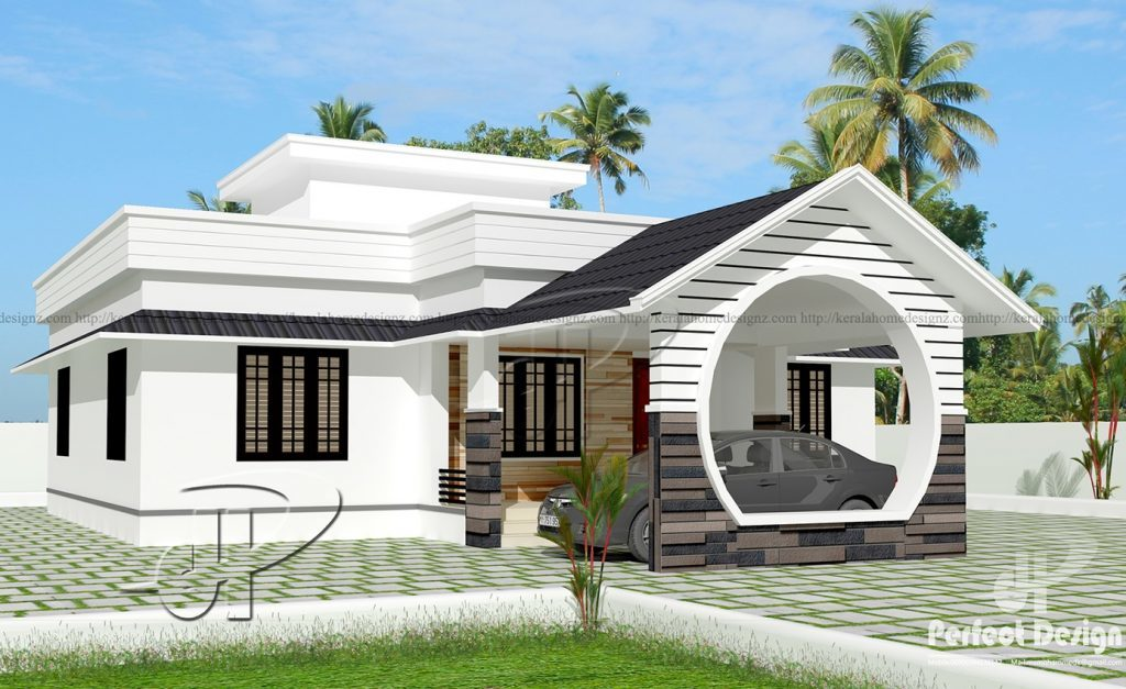 1108 Square Feet 3 Bedroom Low Cost Single Floor Home Design and ...
