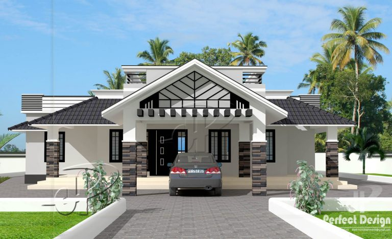 48 Square Feet 48 Bedroom Single Floor Home Design And Plan Home Inspiration Single Home Designs
