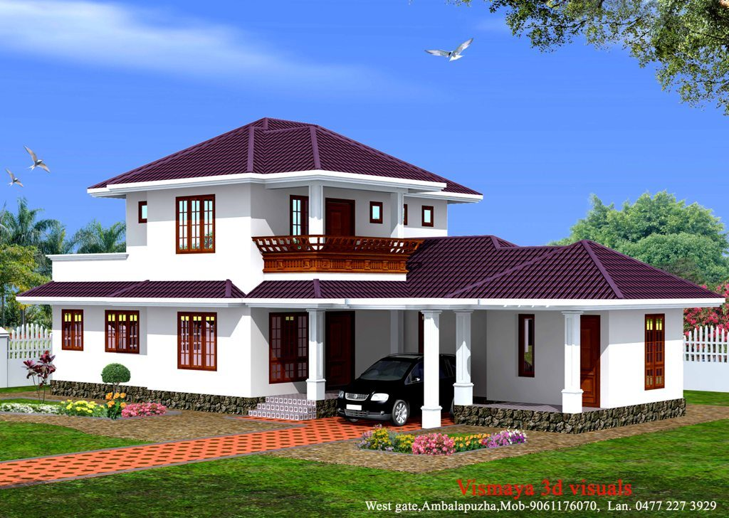 1873 square feet 4 bedroom kerala style amazing home for 4 bedroom house plans kerala style architect