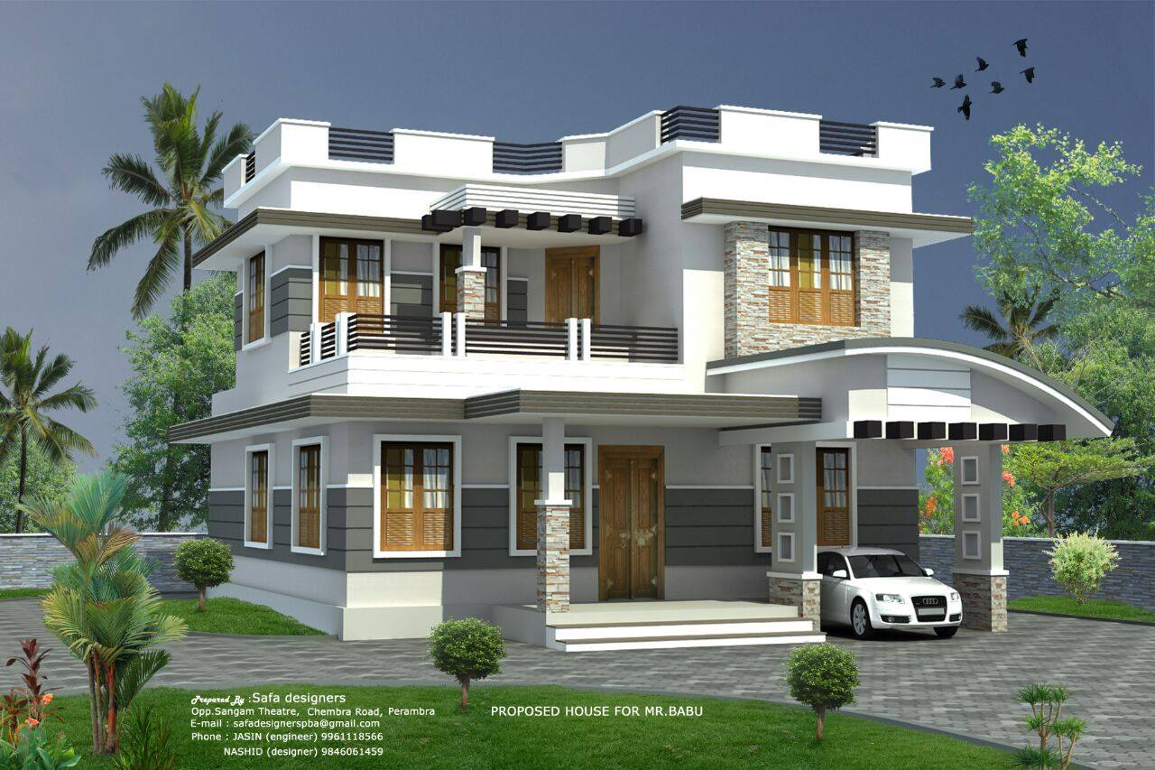 1033 Square Feet 2 Bedroom Single Floor Modern Home Design ...