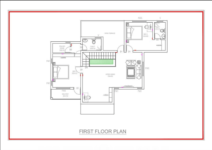 2600 square feet 4 bedroom luxury amazing double floor for 2600 sq ft house plans