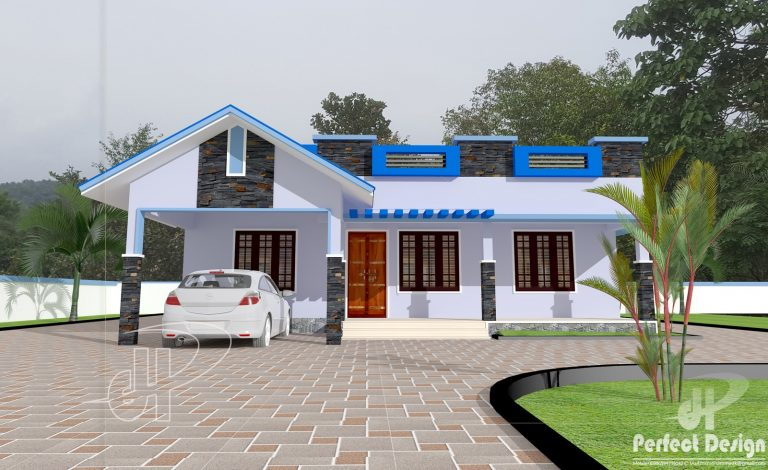 1089 Square Feet 2 Bedroom Low Budget Home Design and Plan - Home ...