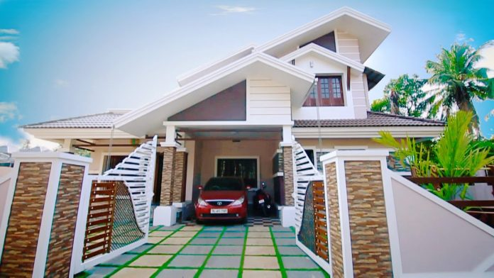 2436 Square Feet 4 Bedroom Sloping Roof Modern Home Design and Plan