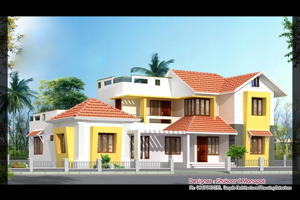 2853 Square Feet 4 Bedroom Modern Double Floor Home Design and Plan
