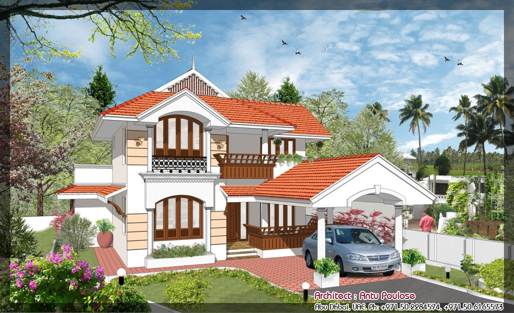 1998 Square Feet 4 Bedroom Double Floor Home Design and Plan