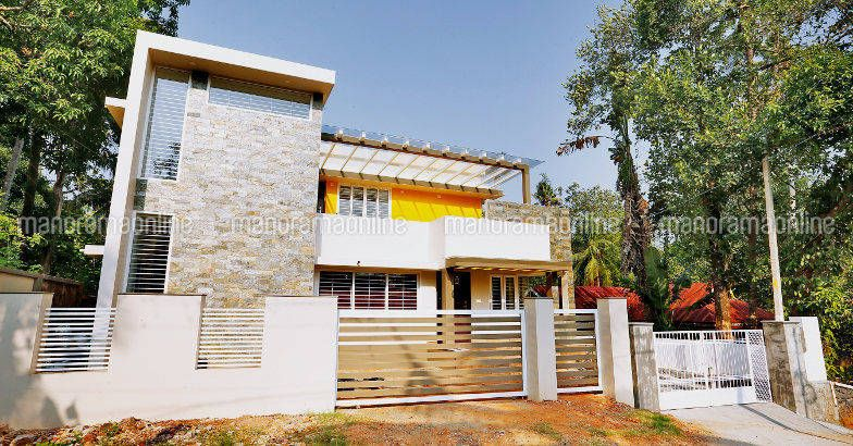 2200 Square Feet 4 Bedroom Double Floor Contemporary Modern Home Design and Plan