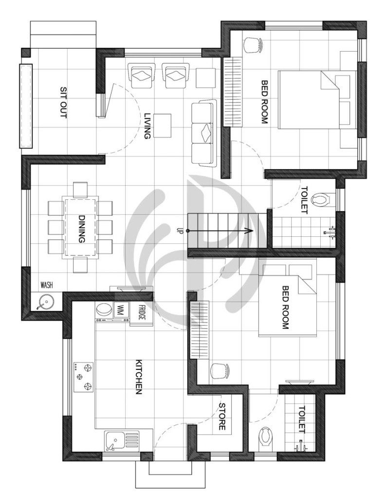1200 square feet 3 bedroom double floor low budget home for 1200 sq ft house plans 3 bedroom