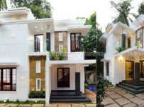 1500 Square Feet 3 Bedroom Double Floor Contemporary Modern Home Design