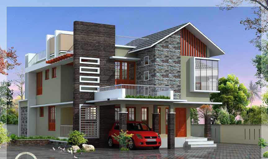 2500 Square Feet 4 Bedroom Double Floor Contemporary Home Design