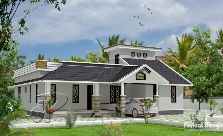 1398 Square Feet 3 Bedroom Single Floor Home Design and Plan
