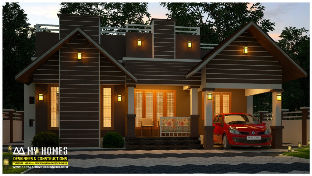 950 square feet 3 bedroom single floor modern home design for Cost to build a 576 sq ft house