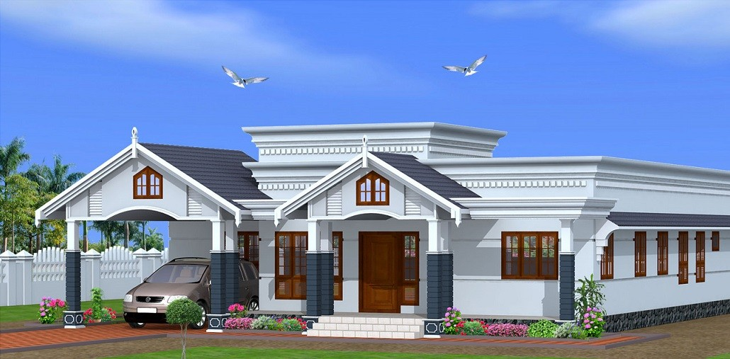 2750 Square Feet 4 Bedroom Single Floor Beautiful Home Design