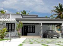 1050 Square Feet 2 Bedroom Single Floor Modern Home Design and Plan
