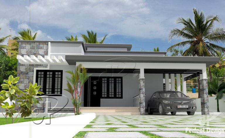Photo of 1050 Square Feet 2 Bedroom Single Floor Modern Home Design and Plan