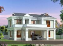 1742 Square Feet 3 Bedroom Modern Double Floor Home Design and Plan