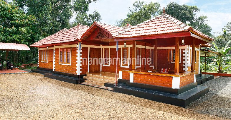 2100 square feet 3 bedroom single floor traditional for Bangladesh village house design