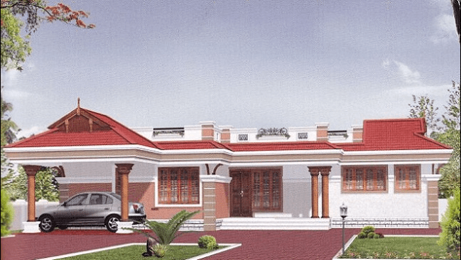1590 Square Feet 3 Bedroom Single Floor Home Design and Plan