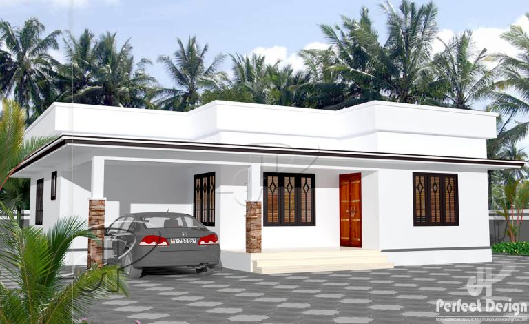 1025 Square Feet 2 Bedroom Low Budget Single Floor Home Design and ...
