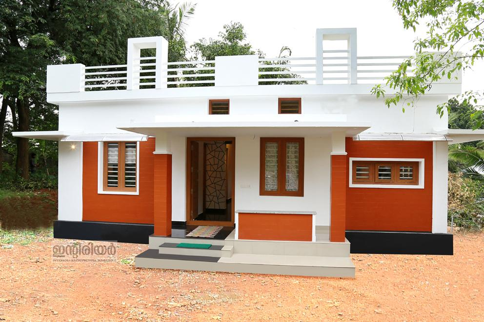 750 square feet 2 bedroom budget home design for 12 lacks for Design of 2bhk house