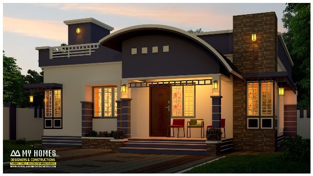 850 square feet 2 bedroom single floor modern contemporary for Kerala home designs low cost