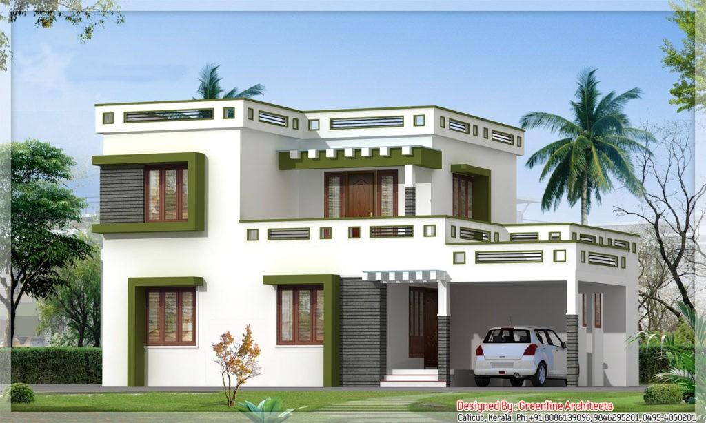 1700 Square Feet 3 Bedroom Contemporary Modern Double Floor Home Design Hom