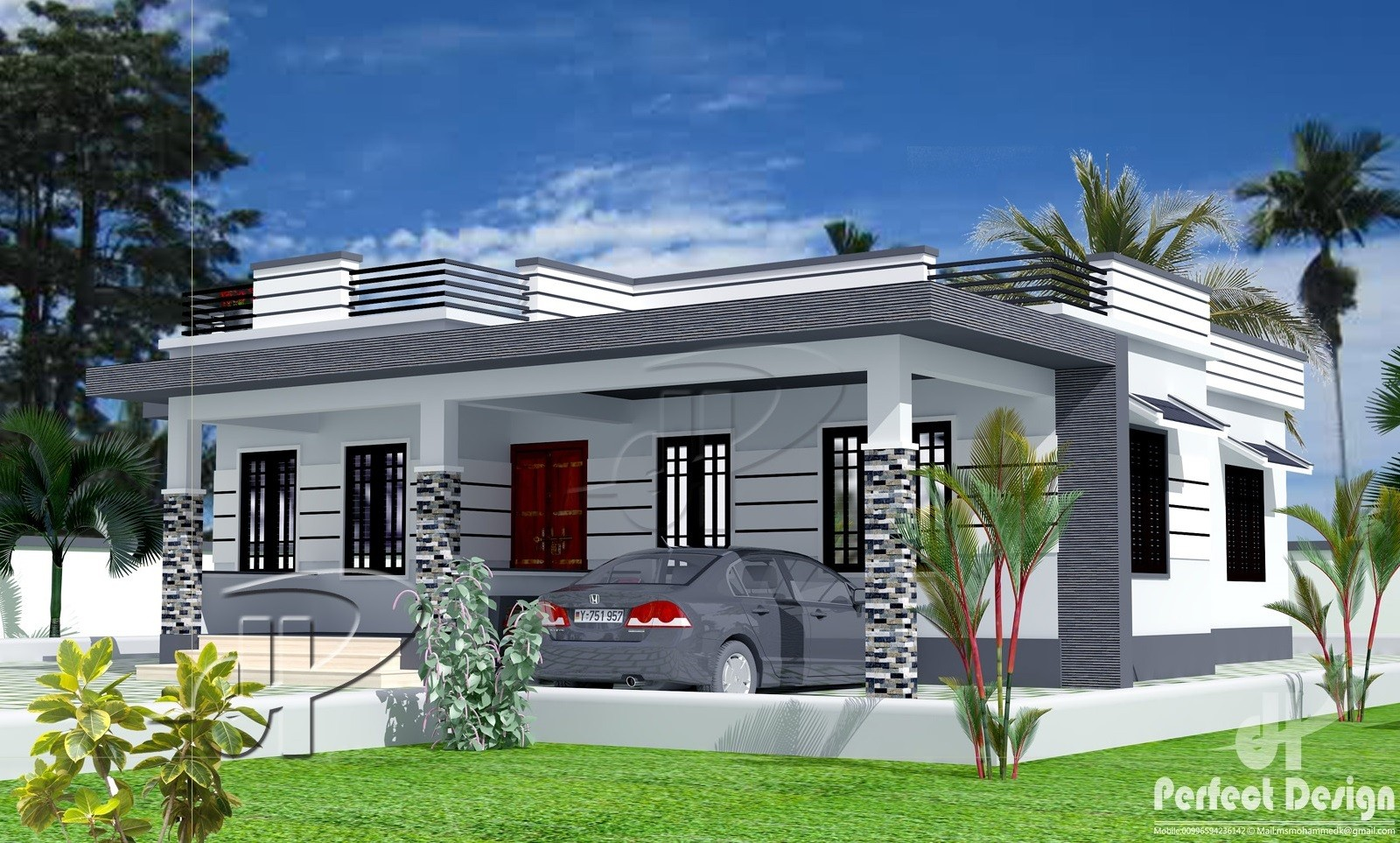 1129 Square Feet 3 Bedroom Single Floor Contemporary