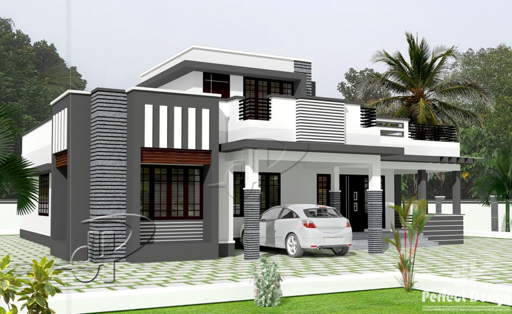 Perfect 1292 Square Feet 3 Bedroom Contemporary Single Floor Modern Home Design And  Plan Pictures Gallery