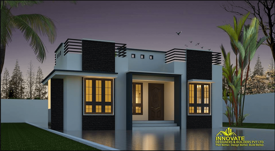 663 Square Feet 2 Bedroom Single Floor Modern Home Design and Plan ...
