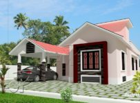 1043 Square Feet 2 Bedroom Single Floor Home Design and Plan
