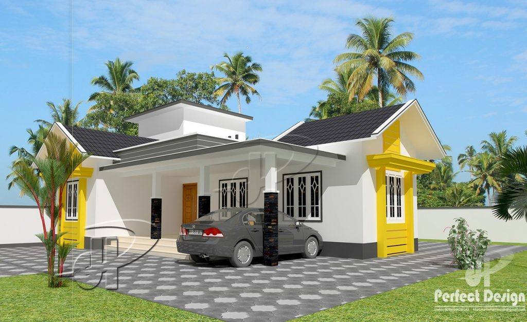 1129 Square Feet 2 Bedroom Single Floor Home Design and Plan