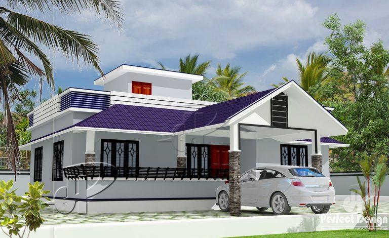 1194 Square Feet 3 Bedroom Single Floor Modern Home Design and Plan