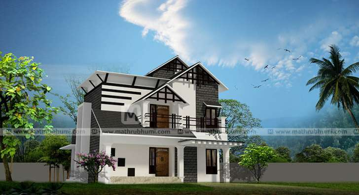 1500 square feet 2 bedroom contemporary modern double floor home design and plan