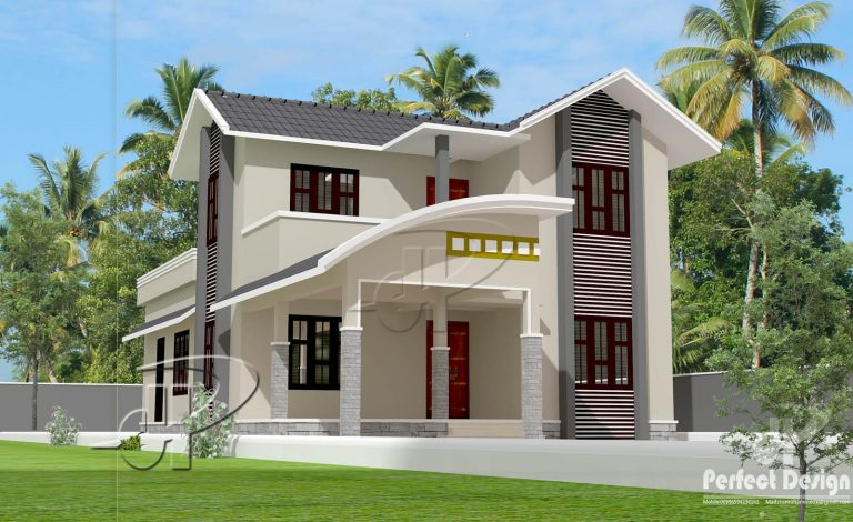 1542 Square Feet 3 Bedroom Double Floor Home Design and Plan