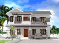 1764 Square Feet 4 Bedroom Double Floor Modern Home Design and Plan