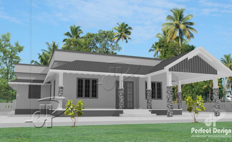 1101 Square Feet 2 Bedroom Single Floor Home Design and Plan