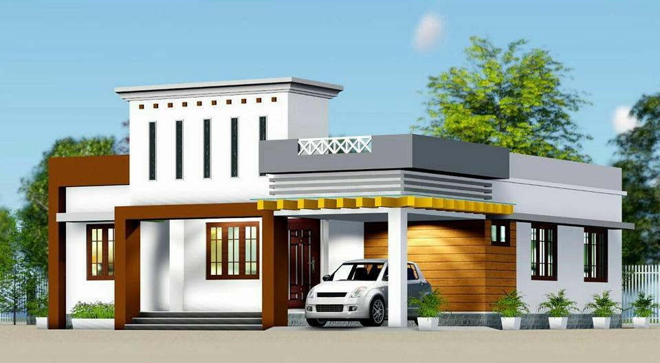 1210 Square Feet 3 Bedroom Single Floor Modern Home Design and Plan