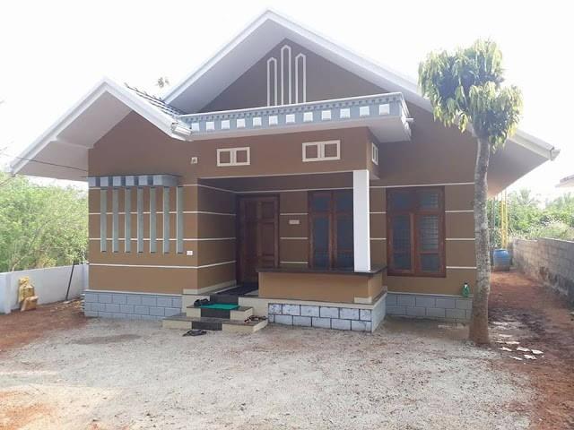 1091 Square Feet 2 Bedroom Single Floor Low Budget Home Design