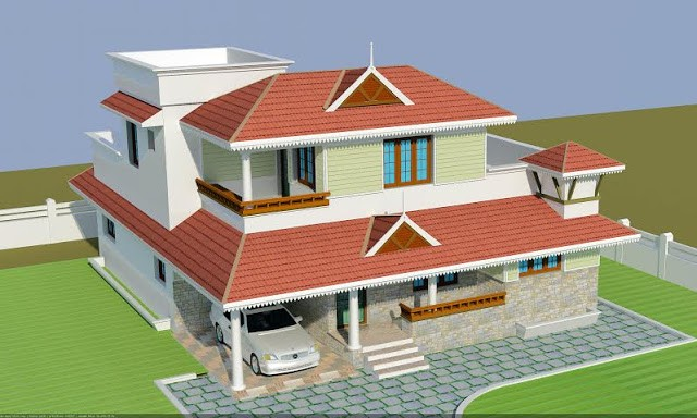 2500 square feet 3 bedroom traditional style home design for 2500 sq ft home