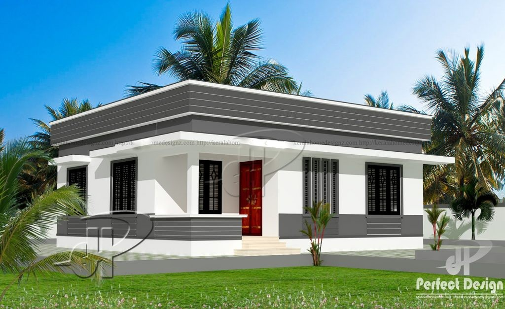 829 Square Feet 2 Bedroom Single Floor Low Budget Home Design and Plan
