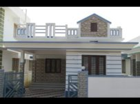 1050 Square Feet 3 Bedroom Single Floor Home at 3.5 Cent Plot Area